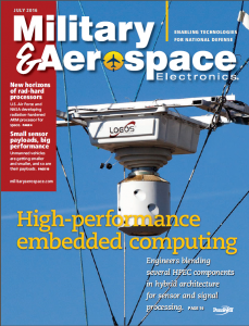 Logos Technologies' Simera system on the cover of Military and Aerospace Electronics.