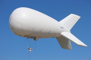 Kestrel Block II mounted on an aerostat