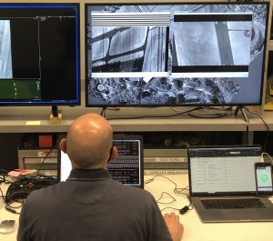 Operator Viewing Imagery During Flight Testing